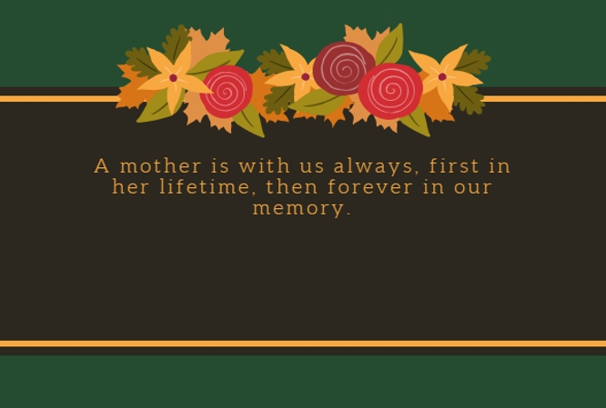 sayings for mother death